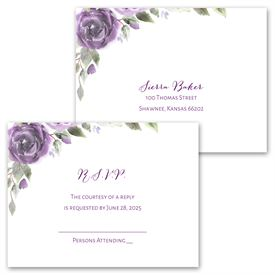 Pretty in Purple - Invitation with Free Response Postcard