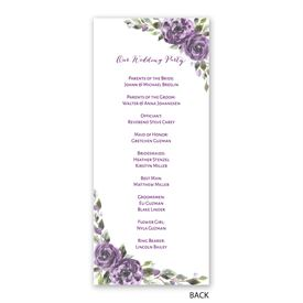 Pretty in Purple - Wedding Program