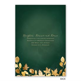 Golden Leaves - Hunter - Invitation with Free Response Postcard