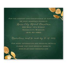 Wedding Reception Cards: Golden Leaves Hunter Information Card