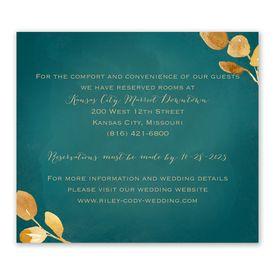 Wedding Reception Cards: Golden Leaves Pool Information Card