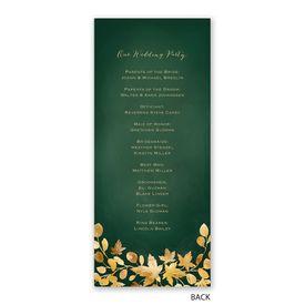 Golden Leaves - Hunter - Wedding Program