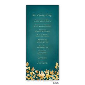 Golden Leaves - Pool - Wedding Program