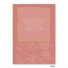 Delicate Blooms - Invitation with Free Response Postcard