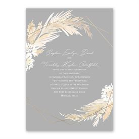 Naturally Glam Invitation with Free Response Postcard