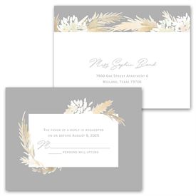 Naturally Glam - Invitation with Free Response Postcard
