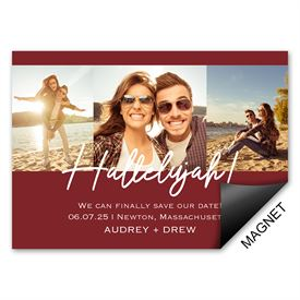 Hallelujah Save the Date Magnet