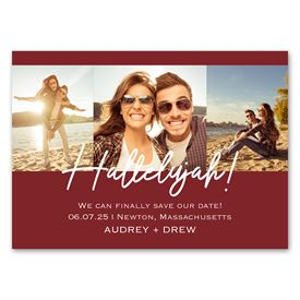Hallelujah - Save the Date Magnet
