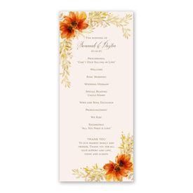 Autumn Blossoms Wedding Program