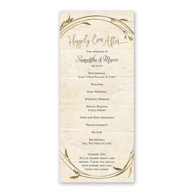 Happily Wedding Program
