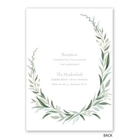Wrapped in Greenery - Invitation with Free Response Postcard