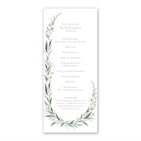 Wrapped in Greenery Wedding Program