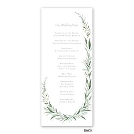 Wrapped in Greenery - Wedding Program