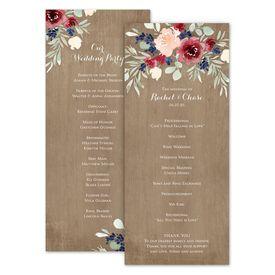 Wedding Programs: Natural Blooms Wedding Program