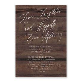 Natural Love Espresso Invitation with Free Response Postcard