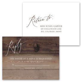 Natural Love - Espresso - Invitation with Free Response Postcard