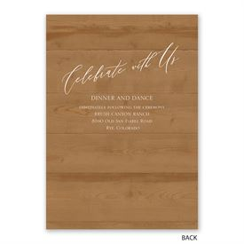 Natural Love - Timber - Invitation with Free Response Postcard