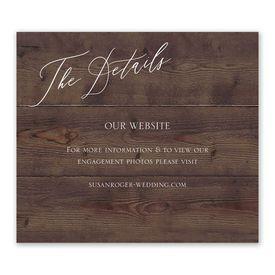 Wedding Reception Cards: Natural Love Espresso Information Card