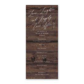 Natural Love Espresso Wedding Program