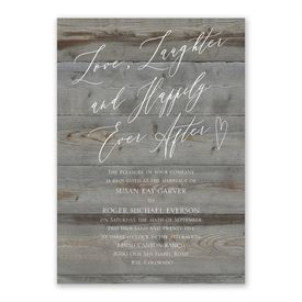 Natural Love Pewter Invitation with Free Response Postcard