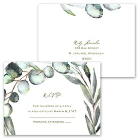 Fresh Cut - Invitation with Free Response Postcard
