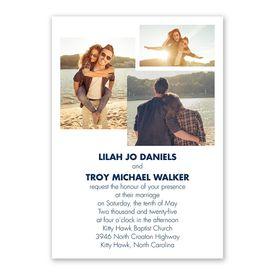 Simple Love - Invitation with Free Response Postcard