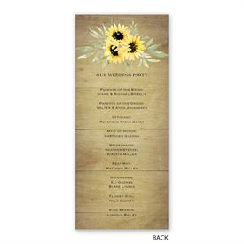 Natural Sunflower - Wedding Program