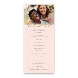 Worth the Wait Wedding Program