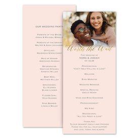 Wedding Programs: Worth the Wait Wedding Program