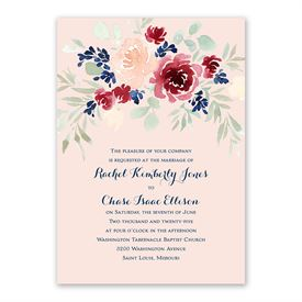 Garden Floral Invitation with Free Response Postcard