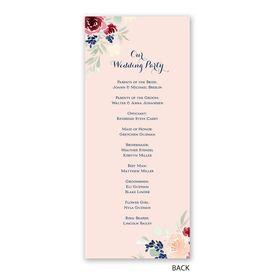 Garden Floral - Wedding Program