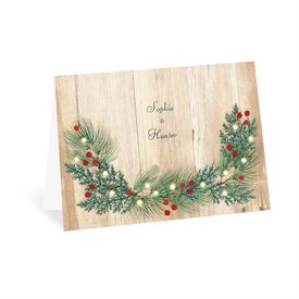 Wedding Thank You Cards: Winter Glow Thank You Card