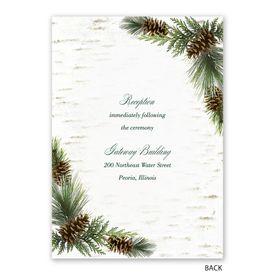 Winter Birch - Invitation with Free Response Postcard