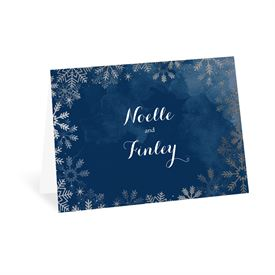 Wedding Thank You Cards: Sparkling Flurry Silver Thank You Card