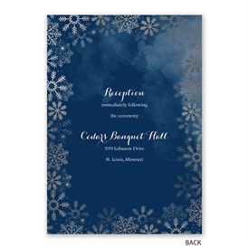 Sparkling Flurry - Silver - Invitation with Free Response Postcard