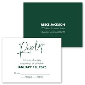 Classic Couple - Mr. and Mrs. - Invitation with Free Response Postcard