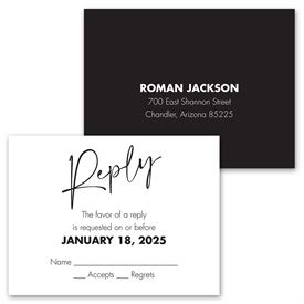 Classic Couple - Mr. and Mr. - Invitation with Free Response Postcard