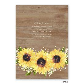 Sweet Sunflowers - Invitation with Free Response Postcard
