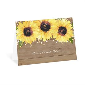 Wedding Thank You Cards: Sweet Sunflowers Thank You Card