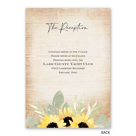 Pretty Sunflower - Invitation with Free Response Postcard