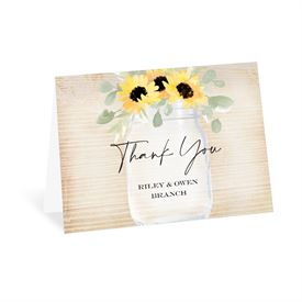 Wedding Thank You Cards: Pretty Sunflower Thank You Card