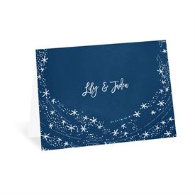 Wedding Thank You Cards: Swirling Snowflakes Thank You Card