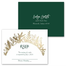 Golden Holiday - Invitation with Free Response Postcard