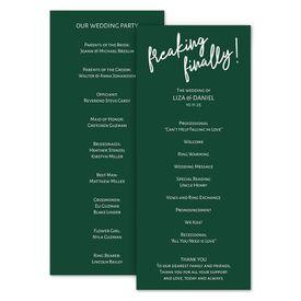 Wedding Programs: Freaking Finally Wedding Program