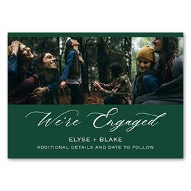 """We""""re Engaged - Engagement Announcement Magnet"""