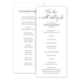 Wedding Programs: True Love Wedding Program