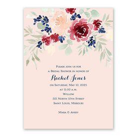 Garden Floral Bridal Shower Invitation