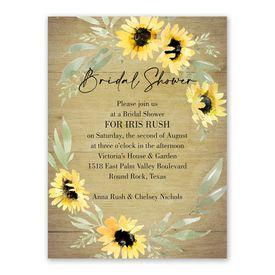 Cheap Bridal Shower Invitations: Natural Sunflower Bridal Shower Invitation