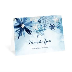 Wedding Thank You Cards: Winter Flurry Thank You Card