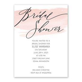 Watercolor Wash Bridal Shower Invitation